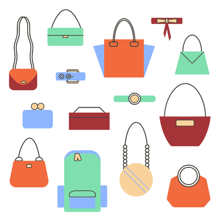 Set of Bags and Handbag Stockfoto - 101897029