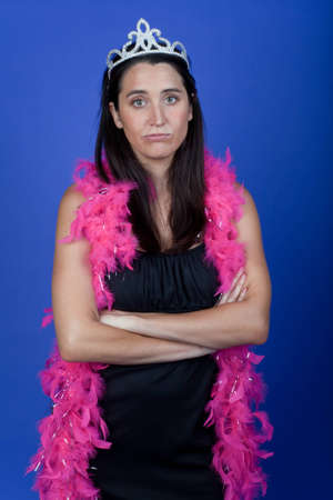 Disappointed bride at bachelorette party Stock Photo - 8599527