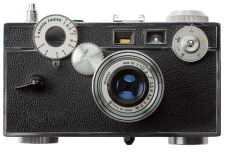 old fashioned rangefinder camera (no logos, trademarks, brand names or serial numbers) Stock Photo - 8599530