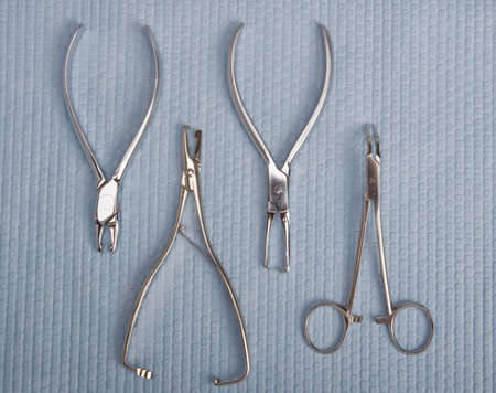 dental tools and instruments - forceps Stock Photo