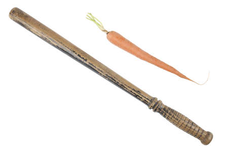 Carrot or the stick? (English colloquial expression)