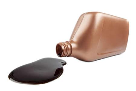 Spilled bottle of oil