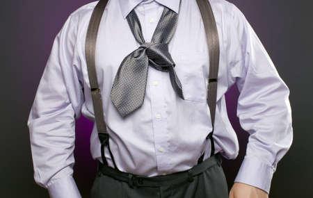 frazzled: Overweight businessman with a bad necktie.