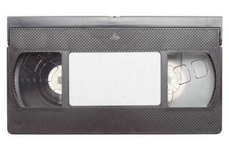 Video cassette isolated on a pure white background