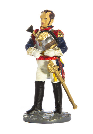 toy soldier: Toy soldier isolated on white