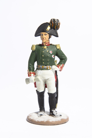 toy soldier: Toy soldier on a white background Stock Photo