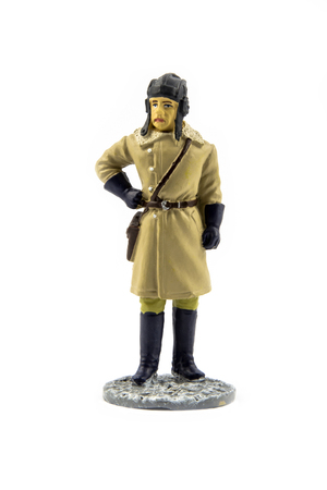 Officer of Armored Forces in winter field uniform, 1941-1945 Stock Photo