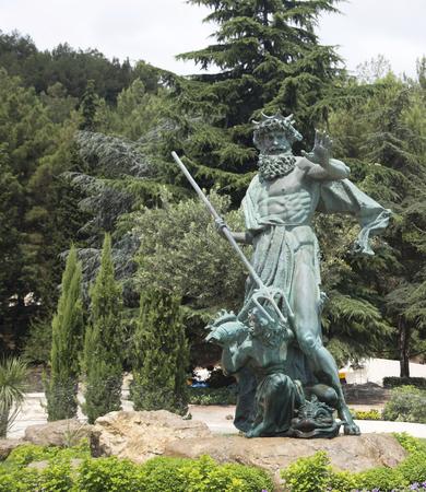 king neptune: Sea King Neptune sculpture in the resort Aivazovsky Editorial