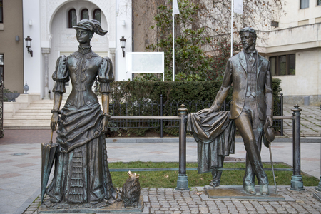 playwright: Sculpture The Lady with the Dog on the seafront of Yalta