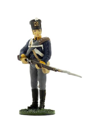 mosquetero: 11 de mosquetero (2ª Silesia) regimiento de infantería de línea del ejército prusiano, 1815 Foto de archivo