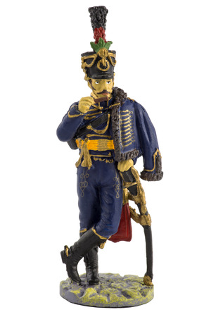 Petty Officer 1st Hussars of Emperor Franz I in dress uniform. 1813-1814 Stock Photo