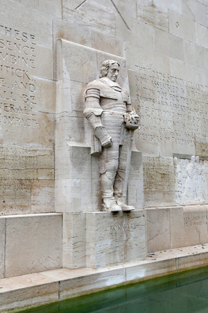reformation: Statue of Oliver Cromwell in Reformation Wall in Geneva
