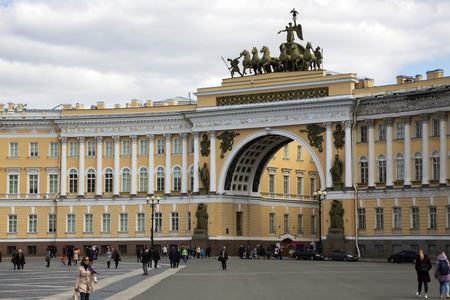 Arch of the General Staff building on Palace Square in St. Petersburg.