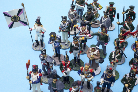 Tactical formation of tin soldiers during the Napoleonic wars of 1812