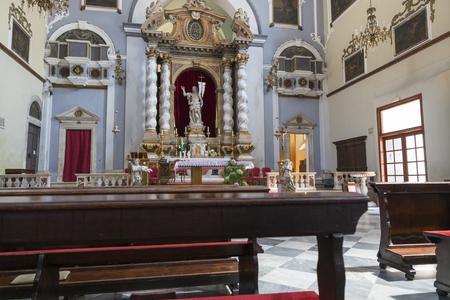 Dubrovnik, Croatia - August 06, 2017: Inside the Catholic Church