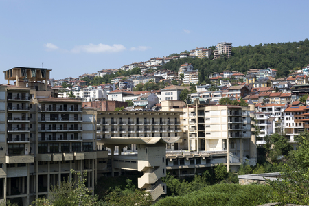 Veliko Tarnovo, Bulgaria - August 10, 2017: View of the residential quarter of the city
