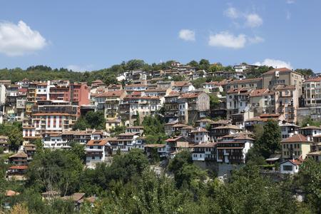 Veliko Tarnovo, Bulgaria - August 10, 2017: View of the residential quarter of the city