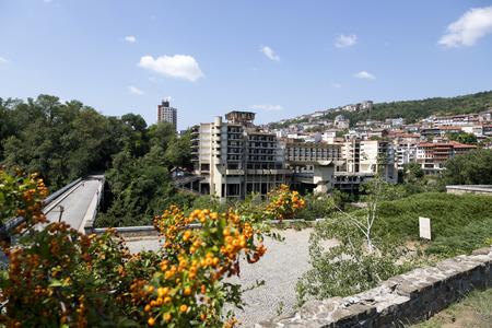 Veliko Tarnovo, Bulgaria - August 10, 2017: View of the residential quarter of the city Stock Photo - 105490122