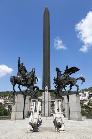 Veliko Tarnovo, Bulgaria - August 10, 2017: Monument Asenovtsi in Veliko Tarnovo.