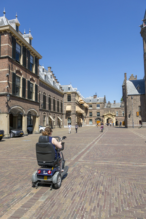 The Hague, Netherlands - July 03, 2018: Area inside the complex of buildings Binnenhof Редакционное