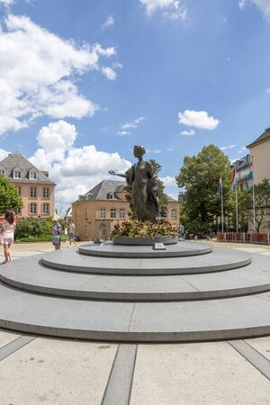 Luxembourg, Grand Duchy of Luxembourg - July 06, 2018: Monument to the Great duchess Charlotte in Luxembourg Editoriali