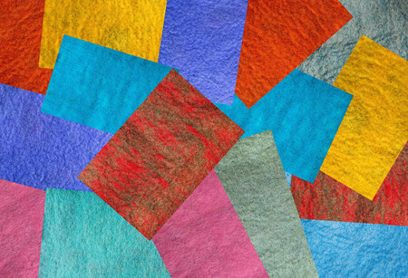 A collage of backgrounds and textures of felted merino wool