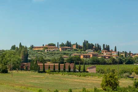 Rural landscape of the Italian region of Tuscany near Florence Imagens