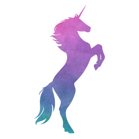 Colorful unicorn. Vector illustration