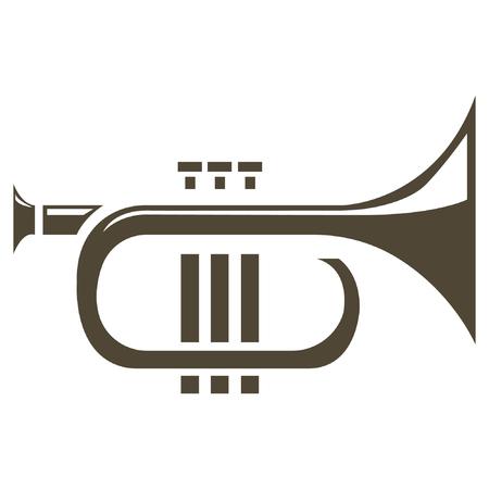 Tuba. ilustración del vector. Ilustración de vector