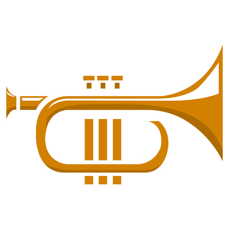 cornet: Tuba. Vector illustration.