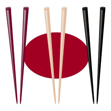 Sushi sticks. vector illustration. Illustration