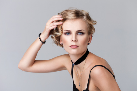 Fashion portrait of a young blonde model Stock Photo