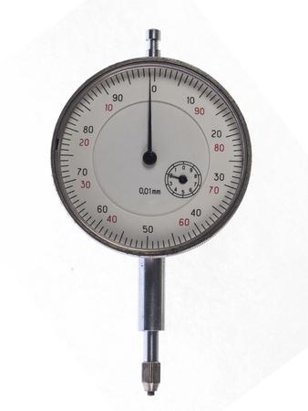 Digital indicator in hand for precise measurement Stock Photo