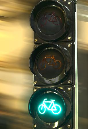Red traffic light signal prohibits the movement Stock Photo