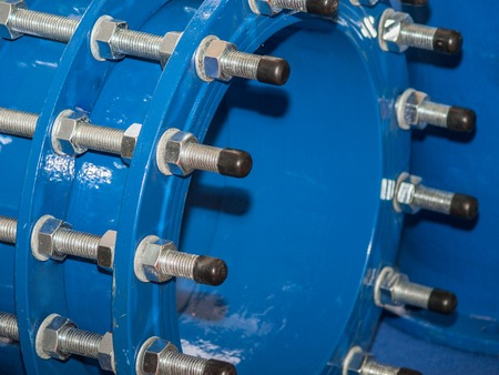 Connecting flange blue water pipe with threaded rods