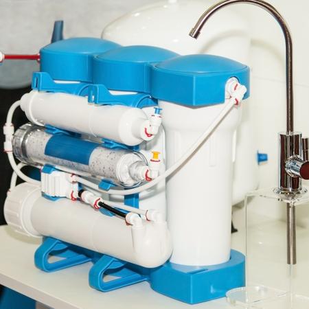 Sistema de purificación de agua. Filtro de ósmosis inversa doméstico