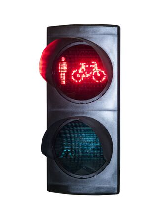 Traffic light insulation for traffic regulation on highways Stock Photo
