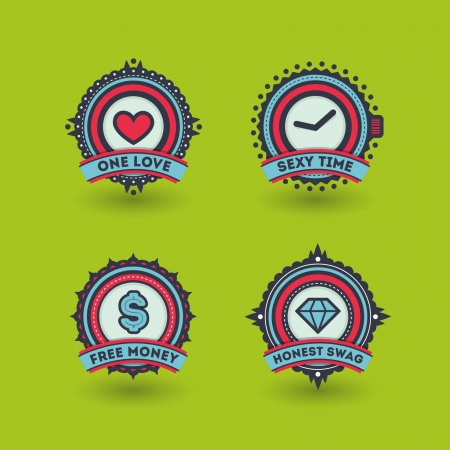 Stylish badges set Vector