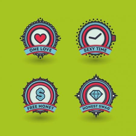 swag: Stylish badges set