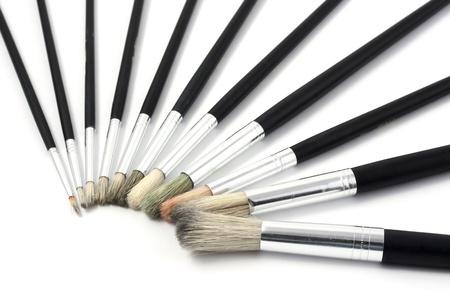 Paintbrushes different sizes isolated on white background Stock Photo - 16041048