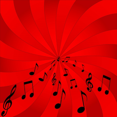 abstract music notes design  Stock Vector - 16807621