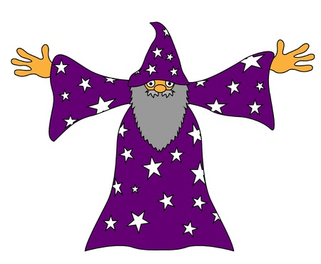 Sorcerer wizard magician Vector