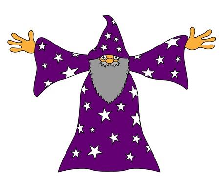 Sorcerer wizard magician Иллюстрация