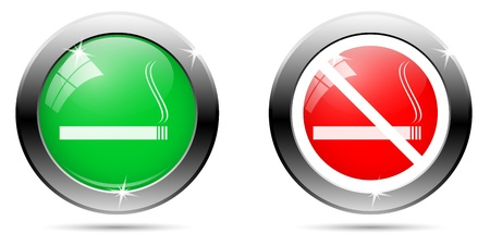 possibility: Icons, buttons showing the possibility of smoking