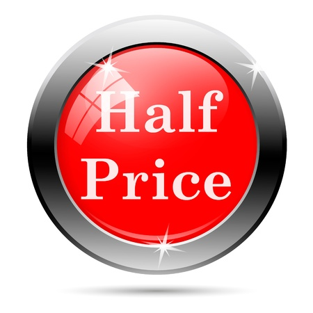 half price: Sales button - half price