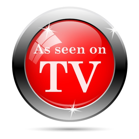 cliche: As seen on tv icon with white on red background