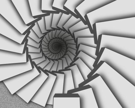灰色の階段の抽象的な背景が無限大にダウン