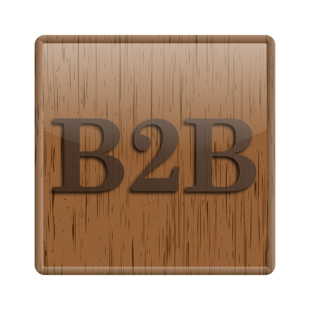 Shiny icon with brown design on wooden background Stock Photo - 20497135