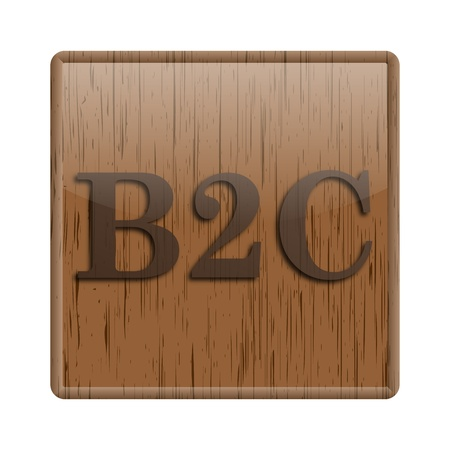 Shiny icon with brown design on wooden background Stock Photo - 20497144