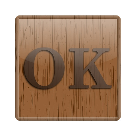 Shiny icon with brown design on wooden background Stock Photo - 20497147